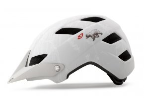 Cyklistická helma GIRO FEATURE mat white california bear
