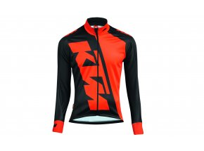 Cyklistická bunda KTM Factory Team Race Winter Black/orange