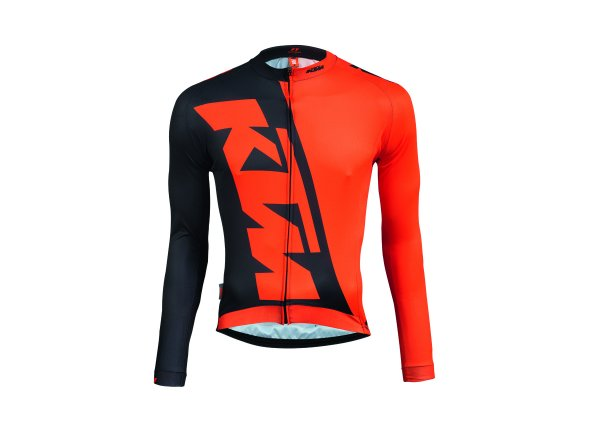 Cyklistický dres KTM Factory Team Race Spring Black/orange