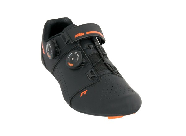 Cyklistické tretry KTM Factory Team Road Carbon Black/orange