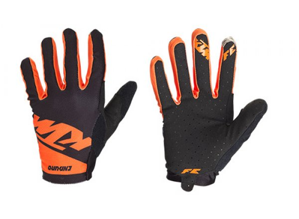 Cyklistické rukavice KTM FACTORY ENDURO GLOVES LIGHT LONG Black/orange