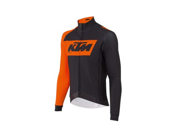Cyklistický dres KTM Factory Team Winter 2019 Black/orange