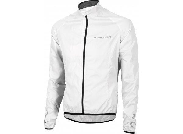 Cyklistická bunda KROSS BROLLY Waterproof White