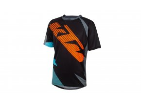 Cyklistický dres KTM Factory ENDURO 2020 Black/orange/aqua