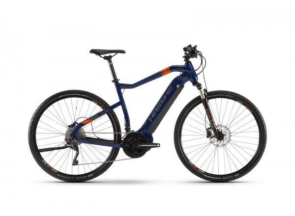 Elektrokolo HAIBIKE SDURO Cross 5.0 500Wh 28 2020 Blue/orange/titan