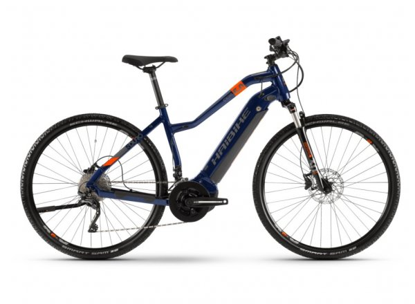 Dámské elektrokolo HAIBIKE SDURO Cross 5.0 500Wh 28 2020 Blue/orange/titan