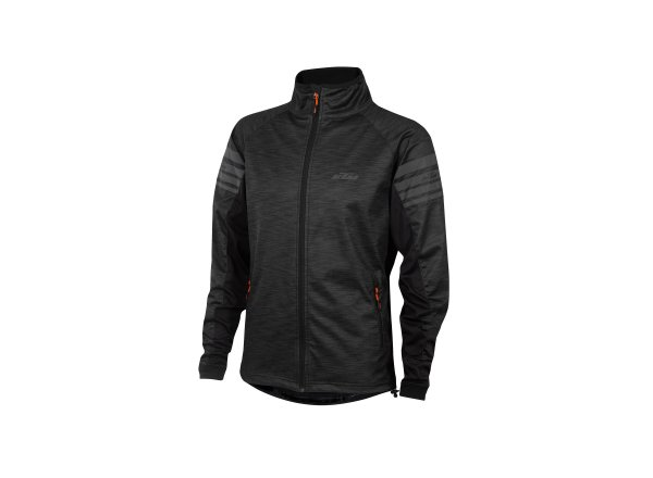 Cyklistická bunda KTM Factory Tour Windstopper Black