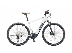 Elektrokolo KTM MACINA CROSS 610 625Wh 2021 metallic white (black+orange)