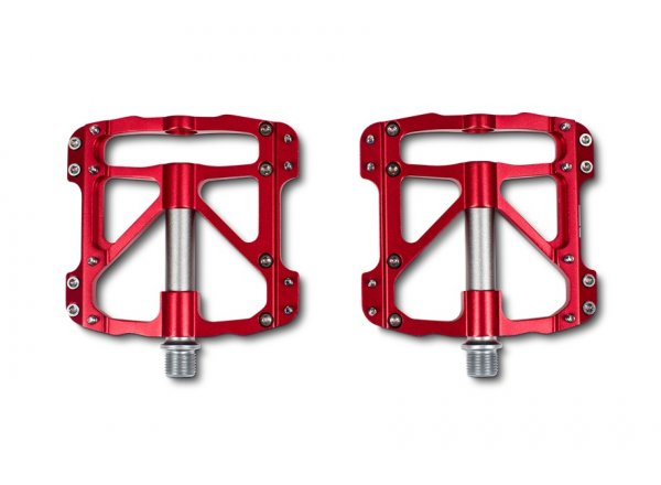 Pedály CUBE RFR Pedale Flat SLT (pár) Red