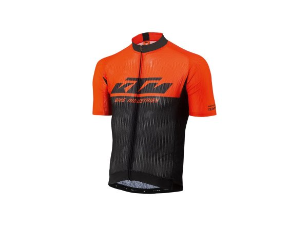 Cyklistický dres KTM Factory Team Light 2021 Black/orange