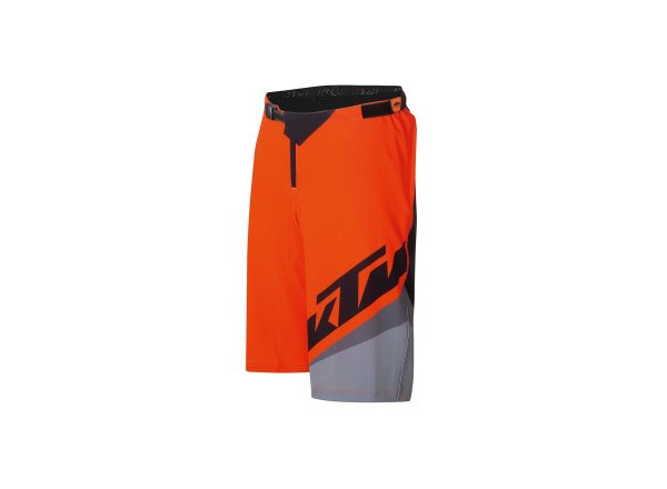 Cyklistické kraťasy KTM FACTORY ENDURO SHORT 2021 Black fire orange grey
